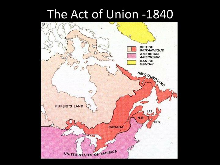 The act of union 1840