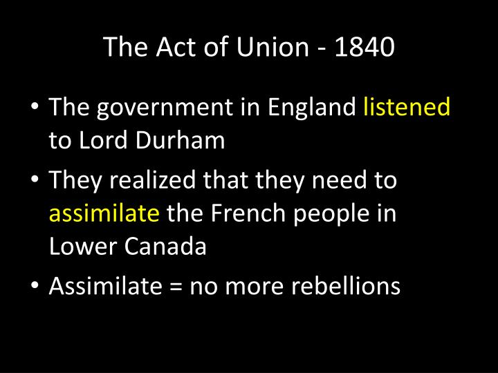 The act of union 18401