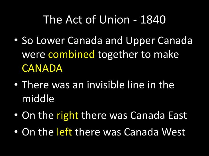 The act of union 18402
