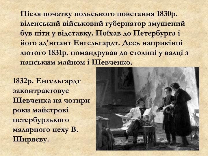 Після початку польського повстання 1830