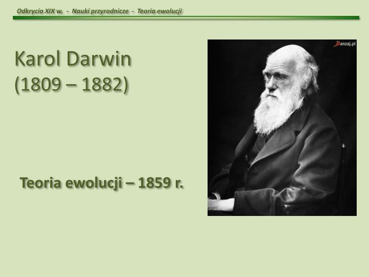 Odkrycia XIX w.  -  Nauki przyrodnicze  -  Teoria ewolucji