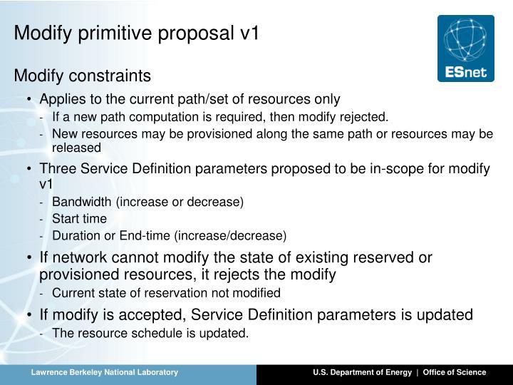 Modify primitive proposal v1