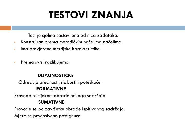 Testovi znanja