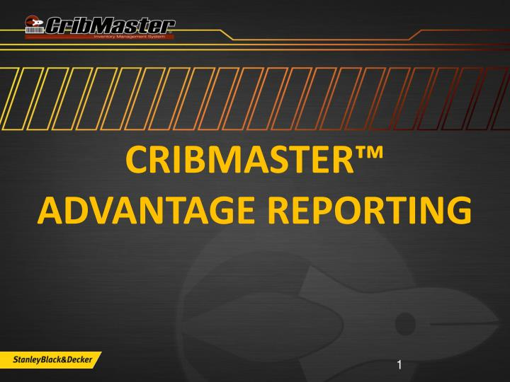 cribmaster advantage reporting n.