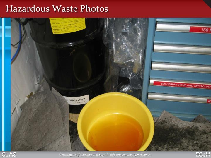 Hazardous Waste Photos