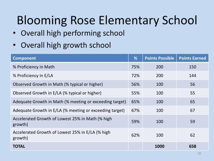 Blooming Rose Elementary School