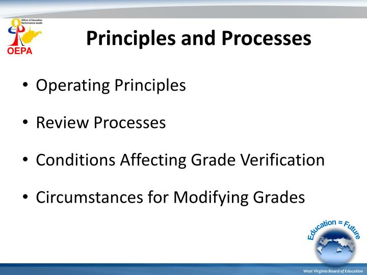 Principles and Processes