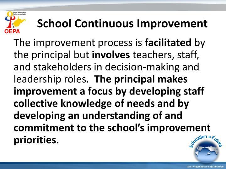 School Continuous Improvement