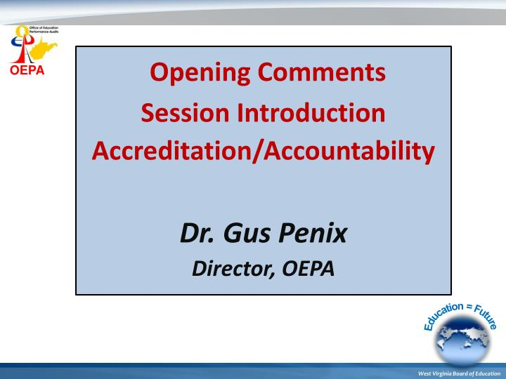 Opening Comments