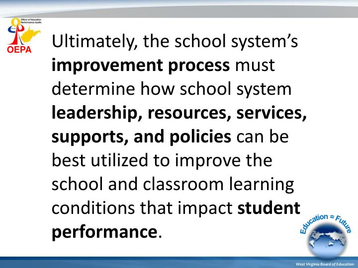 Ultimately, the school system's