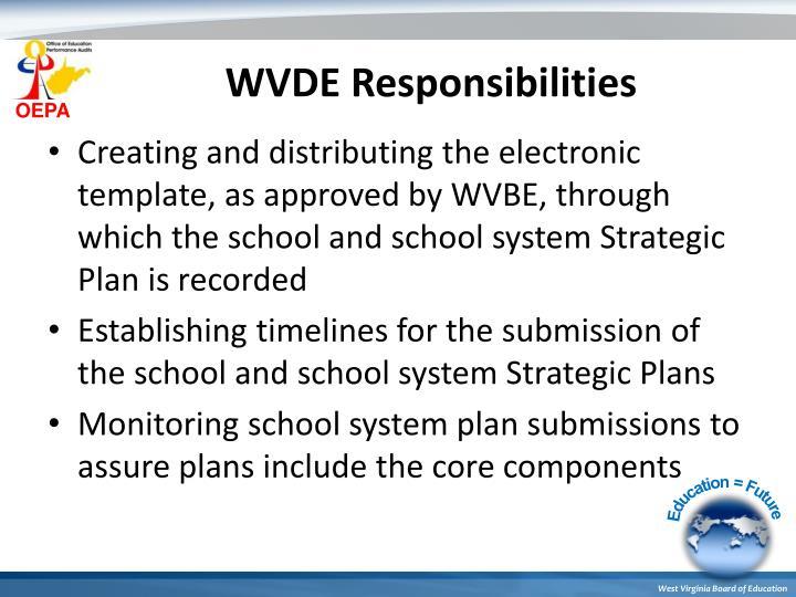 WVDE Responsibilities