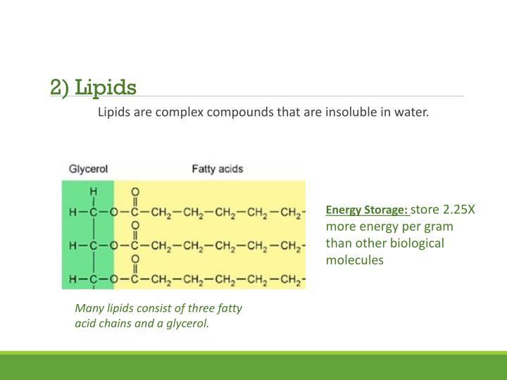 2) Lipids
