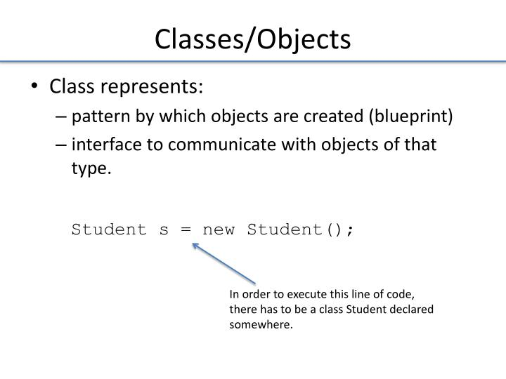 Classes/Objects
