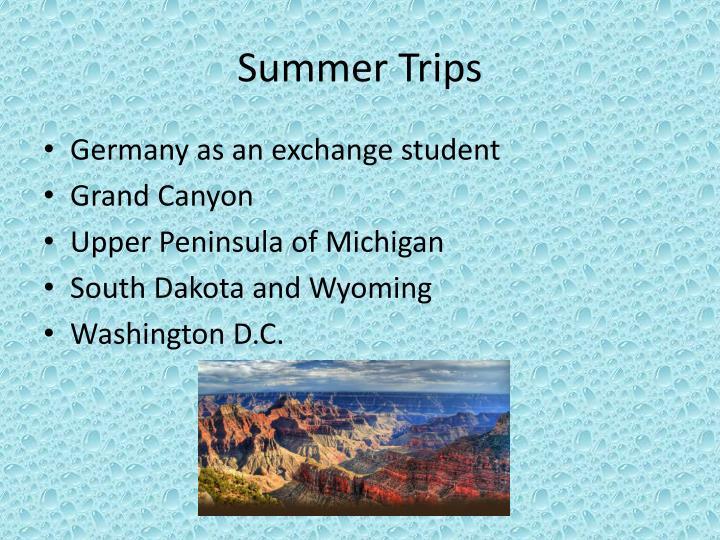 Summer Trips