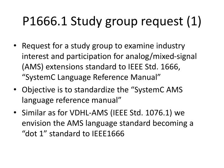 P1666 1 study group request 1