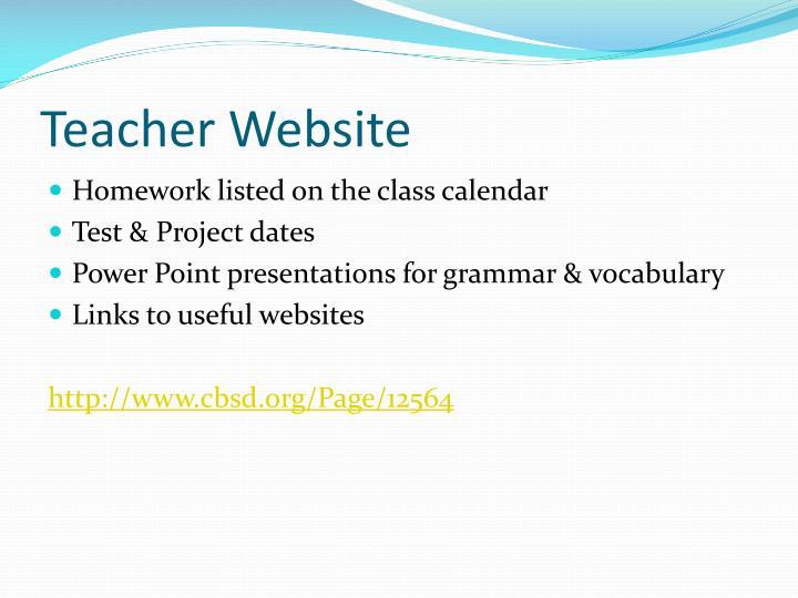 Teacher Website