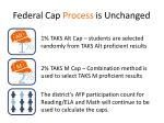 federal cap process is unchanged