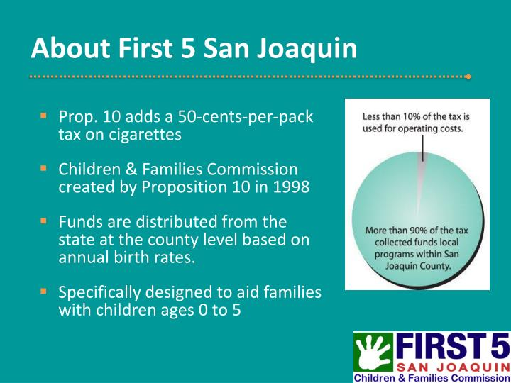 About first 5 san joaquin
