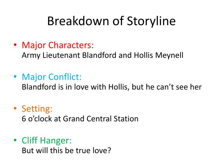 Breakdown of Storyline