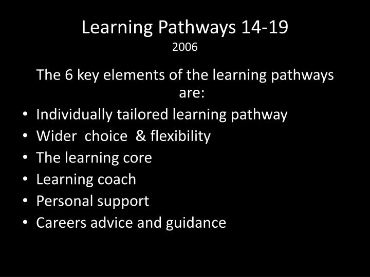Learning Pathways 14-19