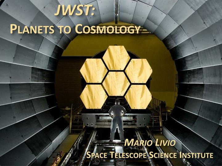 jwst planets to cosmology n.