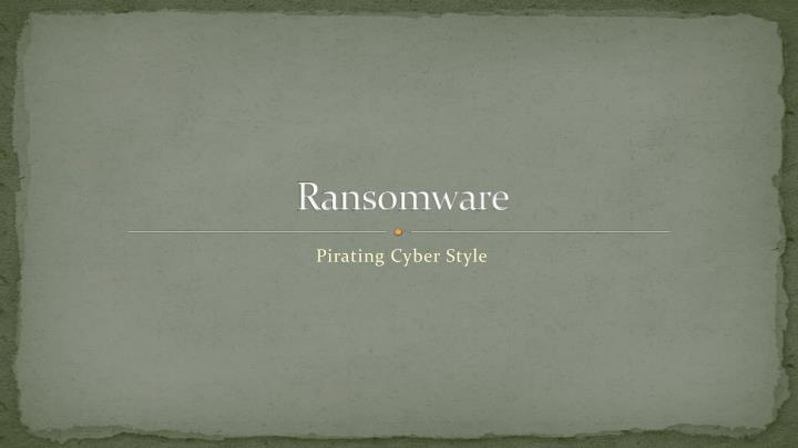 ransomware n.