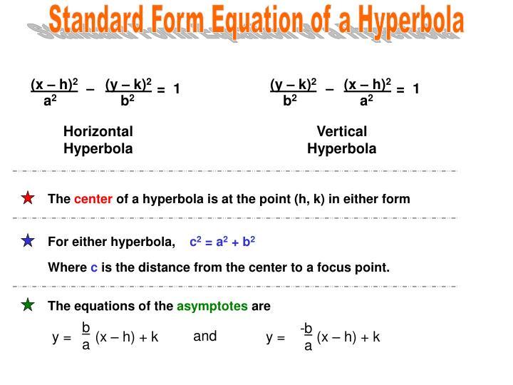 Ppt Precalculus Unit 5 Hyperbolas Powerpoint Presentation Id3193702