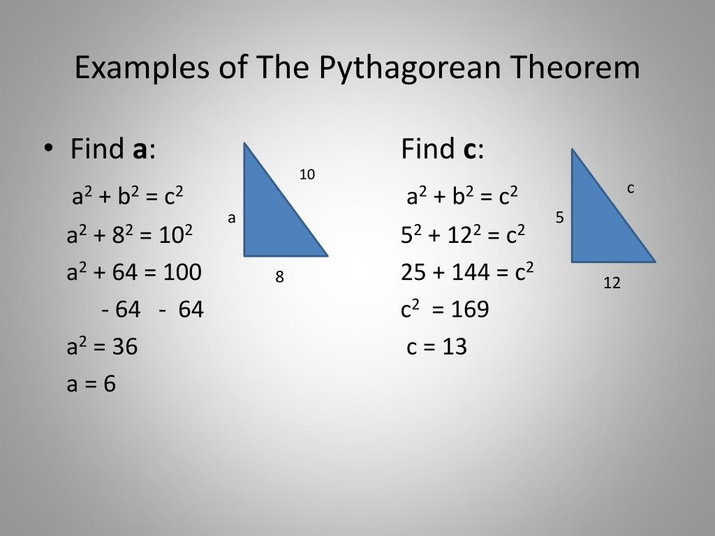 Ppt The Pythagorean Theorem Powerpoint Presentation Free Download Id 3193820