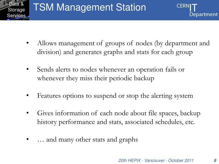 TSM Management Station