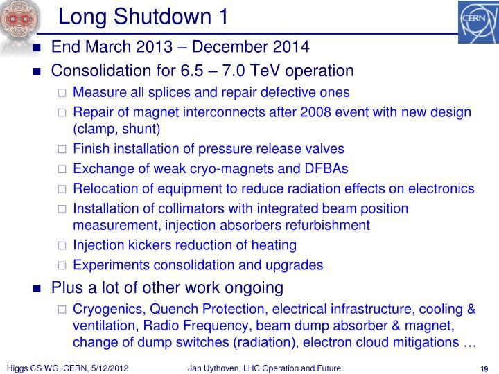 Long Shutdown 1