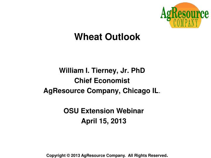 wheat outlook n.