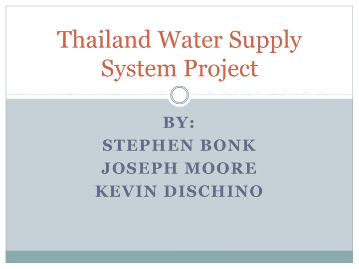thailand water supply system project n.