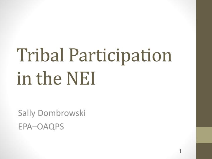 tribal participation in the nei n.