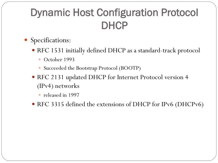 DHCP - PowerPoint PPT Presentation