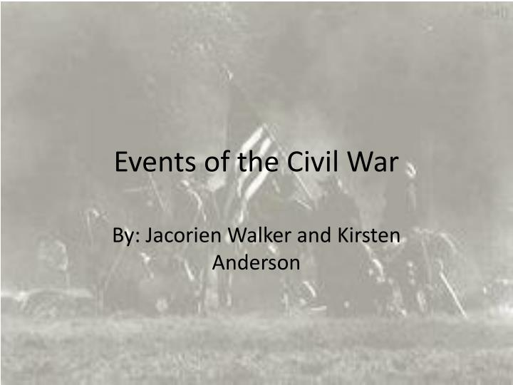 events of the civil war n.