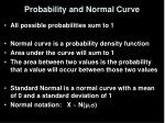 probability and normal curve