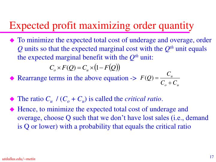 profit maximization model - christaller's model led to patterns where distribution of goods and accumulation of profit was entirely dependent on transportation and location - losch's.