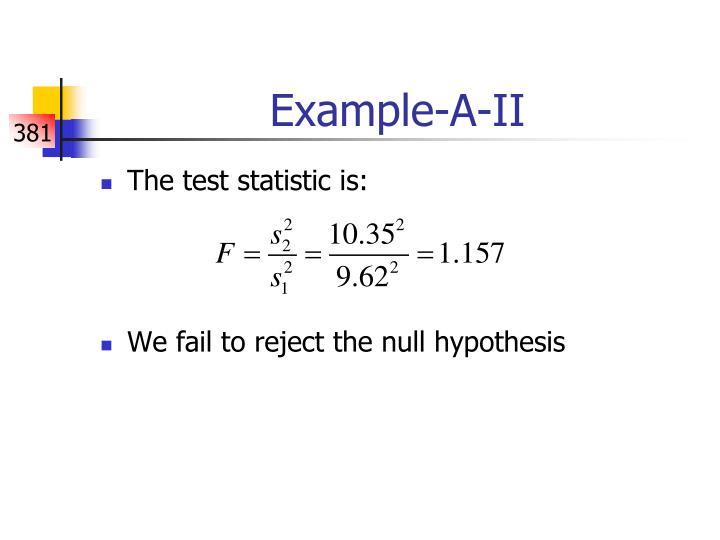 Example-A-II