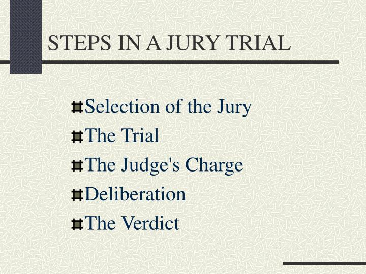 Steps in a jury trial1