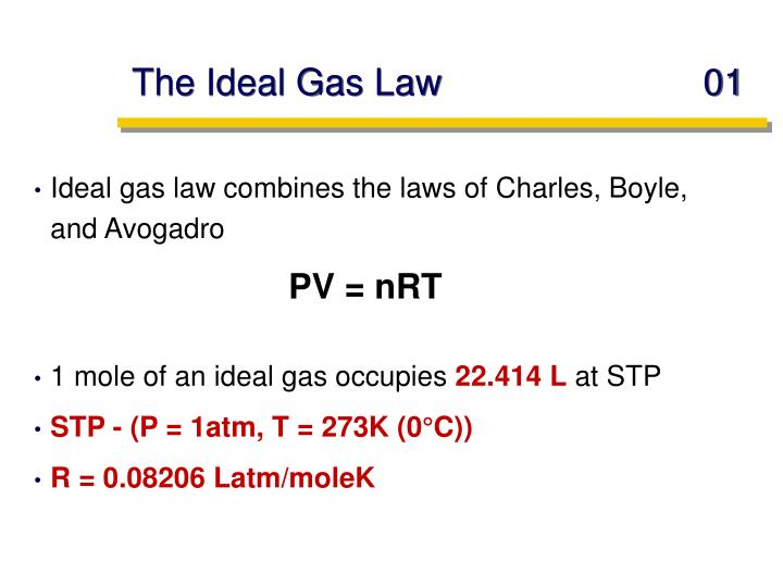 PPT - The Ideal Gas Law 01 PowerPoint Presentation, free ...