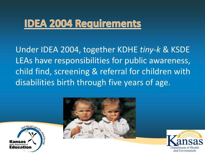 IDEA 2004 Requirements