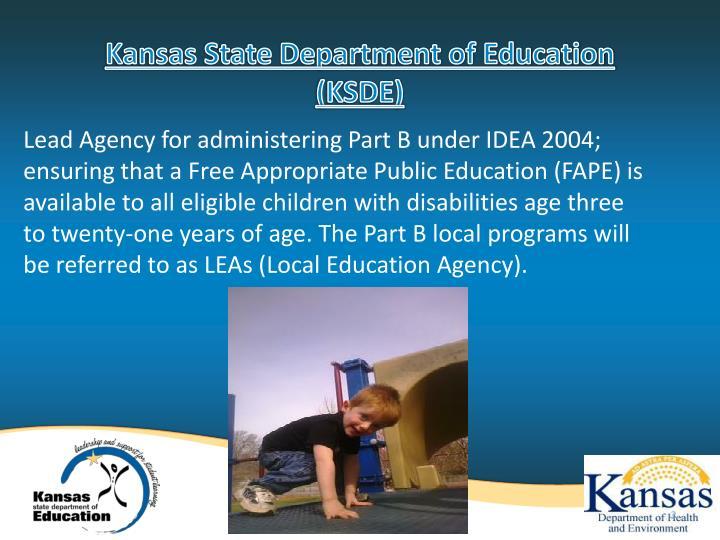 Kansas state department of education ksde