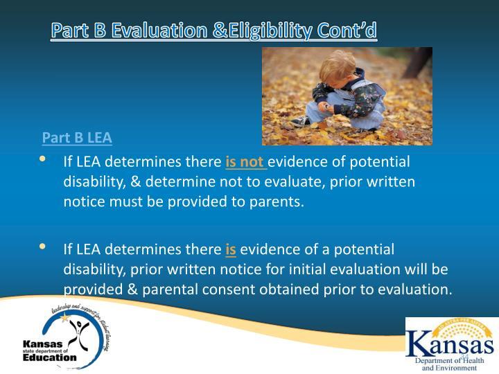 Part B Evaluation &