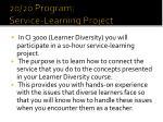 20 20 program service learning project