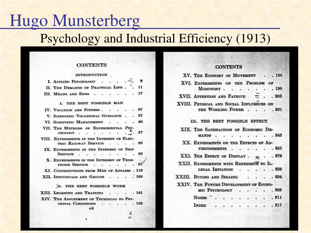 Ppt History Of I O Psychology Powerpoint Presentation Free Download Id 3195172