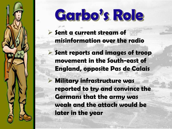Garbo's Role
