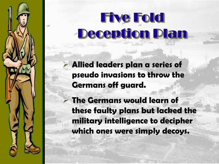Five Fold Deception Plan