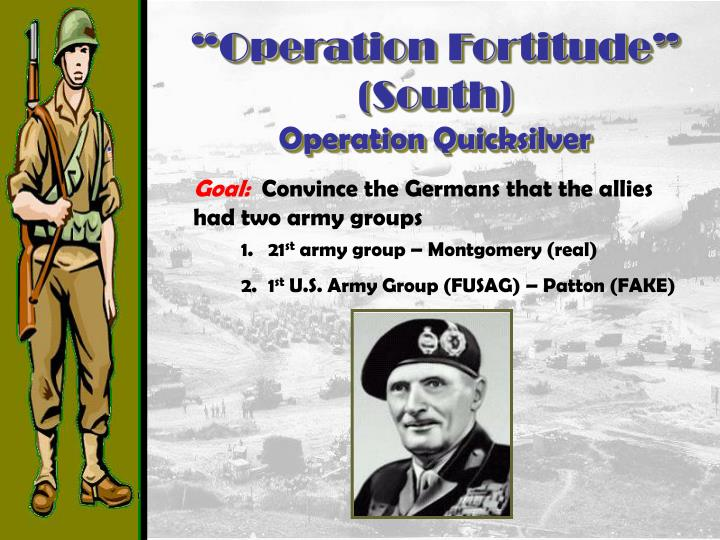 """""""Operation Fortitude"""" (South)"""