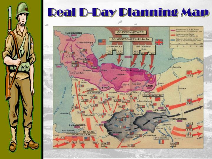 Real D-Day Planning Map