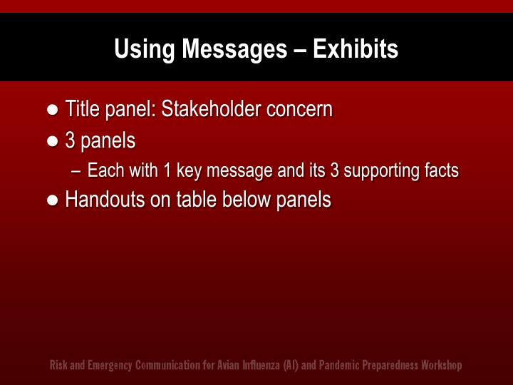 Using Messages – Exhibits